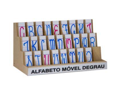 Alfabeto Móvel Degrau Cursivo