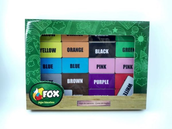 Jogo da memória cores inglês