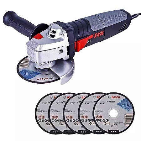 Esmerilhadeira Angular 4. 1/2 POL 830W 9004 com 5 Discos SKIL 2