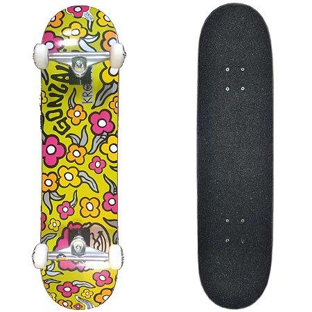 "Skate Profissional Completo com Shape Krooked Gonzales 7.75"""
