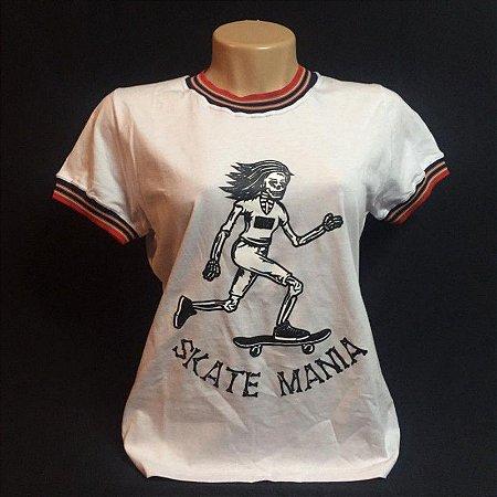 Camiseta Ring Tee SkateMania Branca