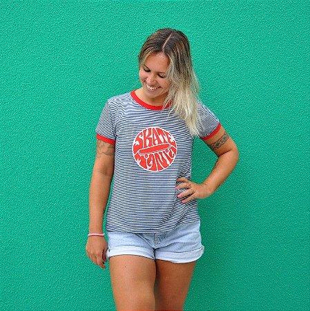 Camiseta Ring Tee Listrada SkateMania Retrô