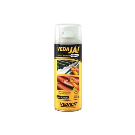 Vedaja Aerossol Spray Incolor Vedacit P/ Telhas Calhas 400ml