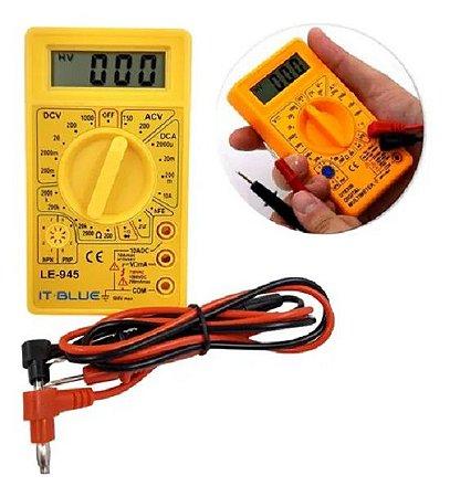 Multímetro Digital LE-945 Portátil Teste de Tensão AC/DC