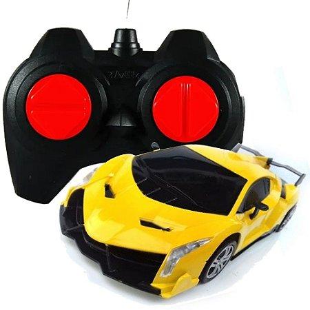 Carrinho De Controle Remoto 1:18 BW-024 Amarelo