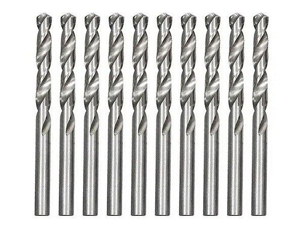 Broca De Aço Rápido Para Metal 3,0 Mm Polida 10 Pçs MTX
