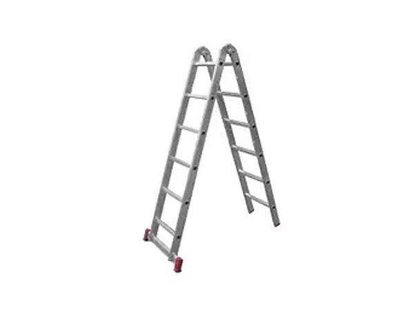 Escada Multifunção De Alumínio 5 Degraus Reisam