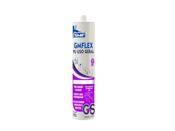 Cola Adesivo Flexível GMF PU Uso Geral Calha 380g Branco