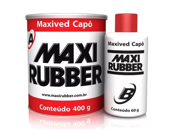 Adesivo Maxived Capô Branca 400g Catalizador Maxi Rubber