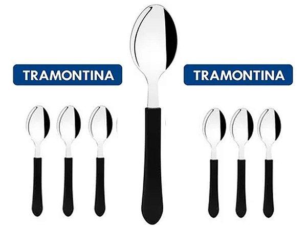 Kit Restaurante 6 Talheres Colher Tramontina Buffet + Nota