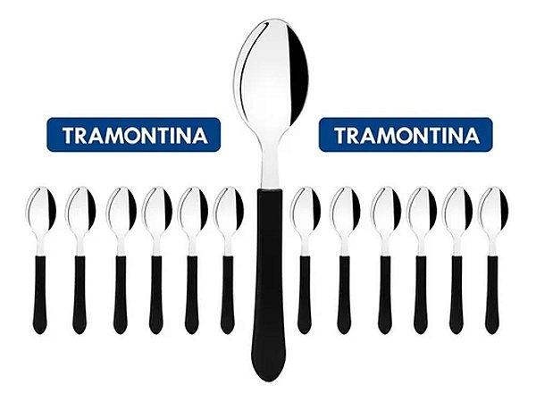 Kit Restaurante 12 Talheres Colher Tramontina Buffet + Nota