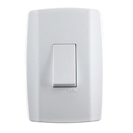 Interruptor Simples Vertical 10A 4x2 Branco Slim 8017 Ilumi