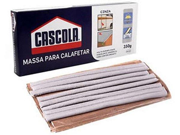 Massa Para Calafar Elástica Em Filetes Cinza 350g Cascola