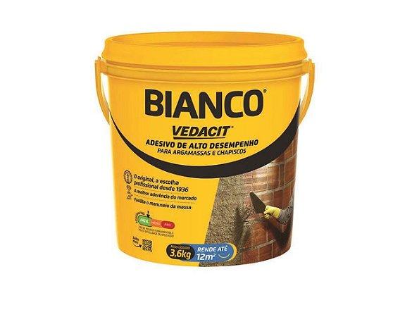Vedacit Adesivo Para Argamassa Liquido Bianco Chapisco 3,6lt