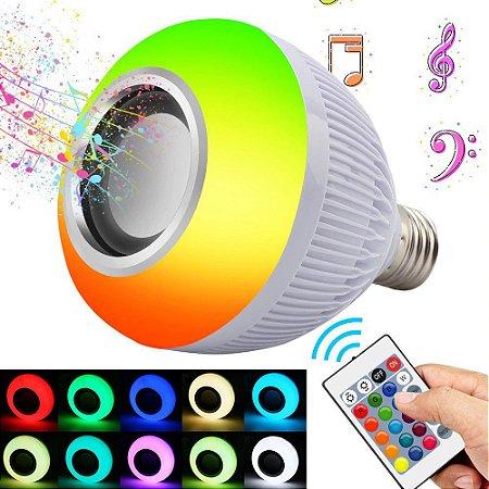 Lampada Led 12w Som Bluetooth 2 em 1 Musica MP3 Bulb