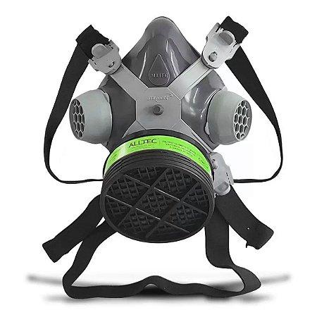Máscara Respirador Facial 1 Filtro Pintura Pesticida Alltec