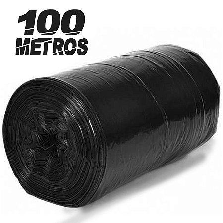 Lona Plástica Preta 4x100 Metros Bobina De 7kg Pintor Obra