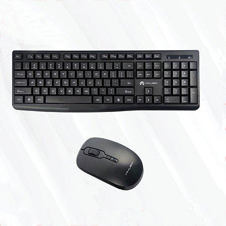 Kit Teclado e Mouse Sem Fio Wireless KB-C013