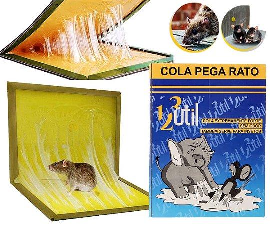 Cola Pega Rato Armadilha Contra Roedores Ratoeira Adesiva