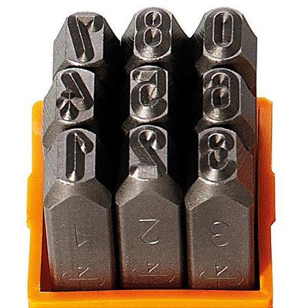 Algarismo para Gravação 6mm Punção Starfer 09 Peças