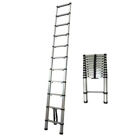 Escada Telescópica 8 Degraus 2,6M Extensiva