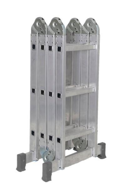 Escada Articulada Em Alumínio 4x3 Com 13 Posições De Uso