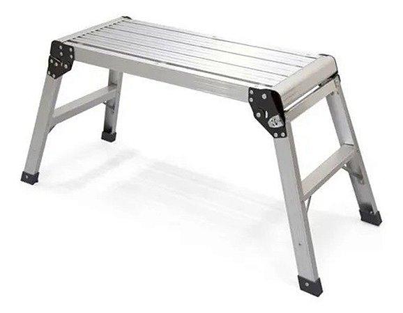 Plataforma Banqueta Alumínio Dobrável 150Kg Antiderrapante