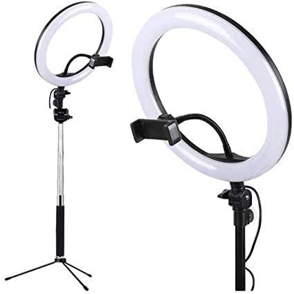 """Luz Led Ring Light Iluminador Selfie Makeup com Tripé 10"""""""