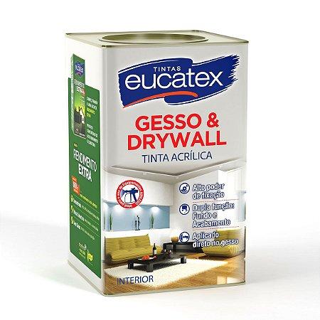 Tinta Acrílica Gesso e Drywall Eucatex 18 Litros Branco