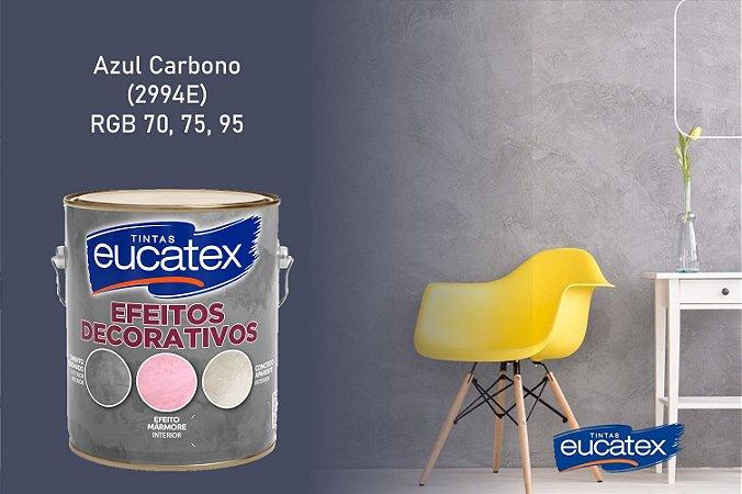 Cimento Queimado Eucatex Galão 3,7Kg Efeito Decorativo Azul Carbono