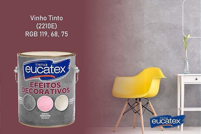 Cimento Queimado Eucatex Galão 3,7Kg Efeito Decorativo Vinho Tinto