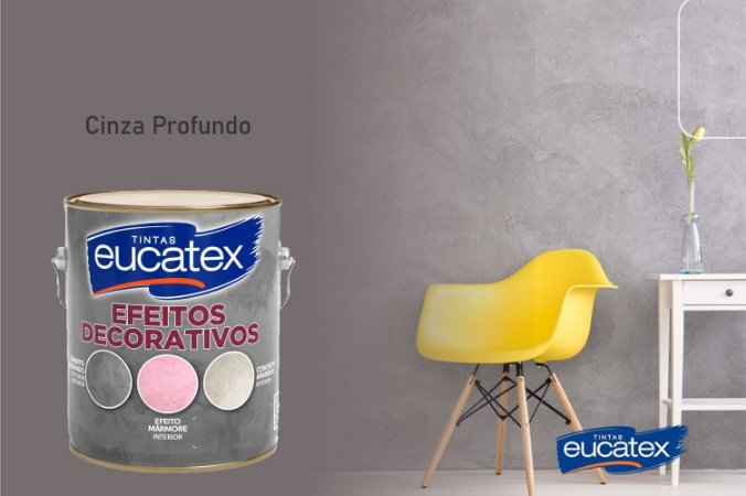 Cimento Queimado Eucatex Galão 5Kg Efeito Decorativo Cinza Profundo