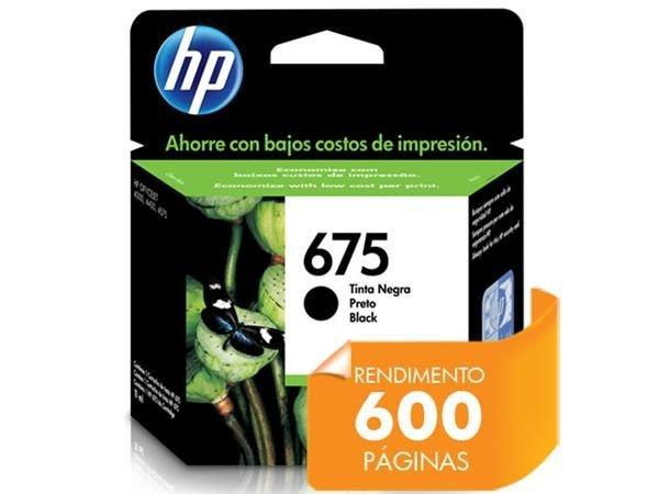 CARTUCHO DE TINTA HP  CN690AL HP 675 PRETO 13,5ML
