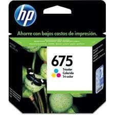 CARTUCHO DE TINTA HP CN691AL HP 675 TRICOLOR 9ML