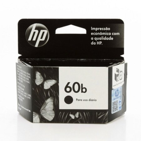 Cartucho Original HP 60B Preto - CC636WB