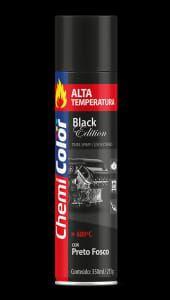 spray alta temp. chemicolor preto fosco 350ml