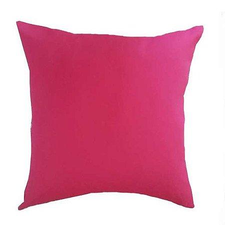Capa de Almofada Rosa Pink em Sued