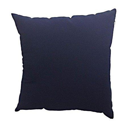Capa de Almofada Azul Marinho 45X45 cm