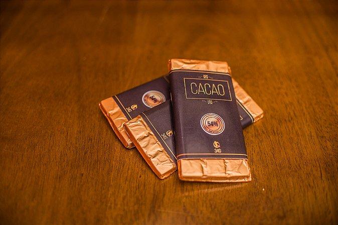 Barra de Chocolate com amêndoas - Cacau 54%