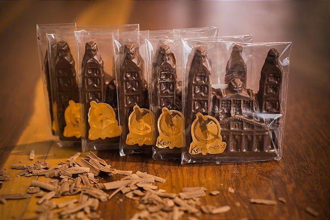 Barra de Chocolate em formato da Catedral Angelopolitana