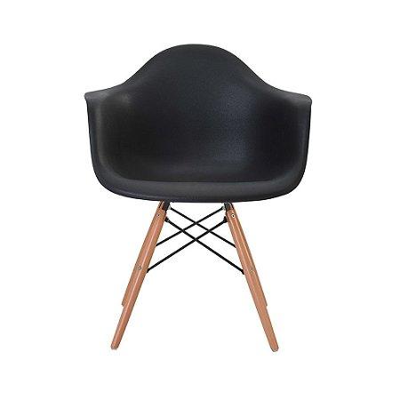 Cadeira Eames com Braço Preta