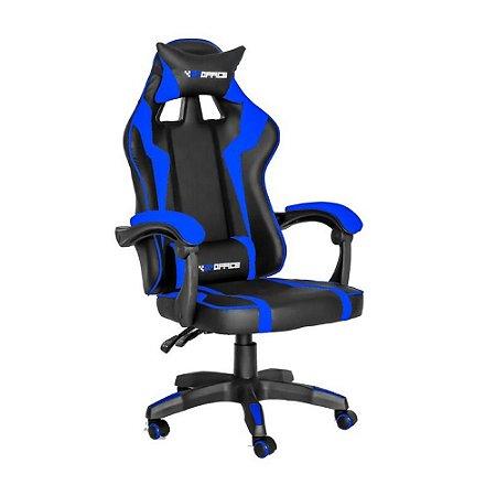 Cadeira Gamer Hudson Azul e Preto