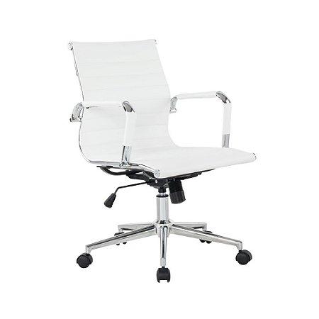 Cadeira Office Esteirinha Diretor Branca