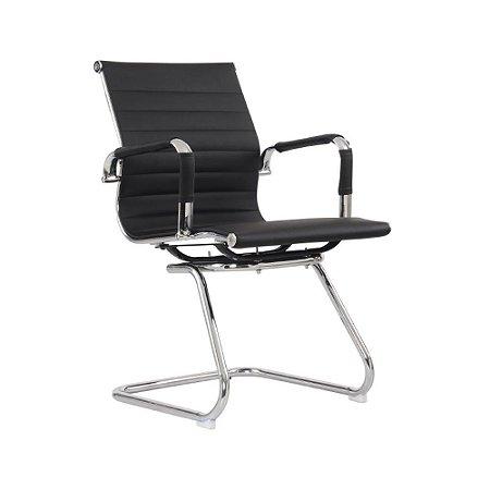 Cadeira Office Esteirinha Fixa Preta