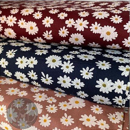 Tecido Flores Marantex 100% Algodão