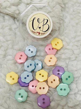 Botão Candy Colors Flor