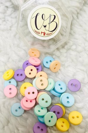 Botão Candy Colors Liso