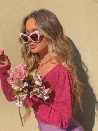 Óculos Michele rosa