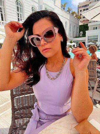 Óculos Gabriela rosa