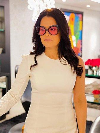 Óculos Carla lente rosa